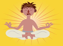 Χρόνος Meditating ελεύθερη απεικόνιση δικαιώματος