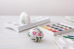 Χρώματα αυγών χρωματισμού για Πάσχα, βοτανική απεικόνιση Στοκ Εικόνα