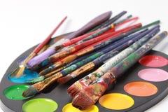 χρώματα βουρτσών στοκ φωτογραφίες