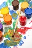 χρώματα βουρτσών στοκ εικόνες με δικαίωμα ελεύθερης χρήσης