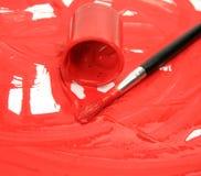 χρώματα βουρτσών στοκ εικόνα
