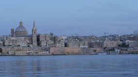 Χρώματα βραδιού Valletta - πρωτεύουσα της Μάλτας - hyperlapse απόθεμα βίντεο
