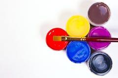 χρώματα γκουας βουρτσών Στοκ φωτογραφίες με δικαίωμα ελεύθερης χρήσης