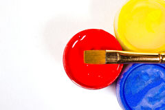 χρώματα γκουας βουρτσών Στοκ Εικόνες