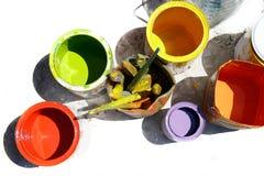 χρώματα δοχείων στοκ φωτογραφία με δικαίωμα ελεύθερης χρήσης
