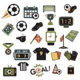 Χρώματα εικονιδίων ποδοσφαίρου απεικόνιση αποθεμάτων