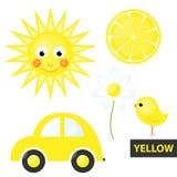 Χρώματα εκμάθησης – κίτρινα Στοκ Φωτογραφίες
