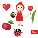 Χρώματα εκμάθησης – κόκκινο Στοκ Εικόνες