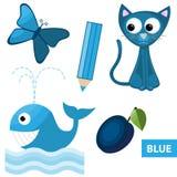 Χρώματα εκμάθησης – μπλε Στοκ εικόνες με δικαίωμα ελεύθερης χρήσης