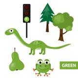 Χρώματα εκμάθησης – πράσινα Στοκ φωτογραφίες με δικαίωμα ελεύθερης χρήσης