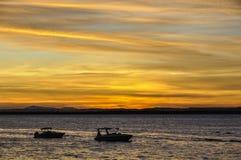 Χρώματα ηλιοβασιλέματος σε Morro de Σάο Πάολο, Σαλβαδόρ, Βραζιλία Στοκ Εικόνες