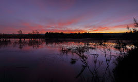 Χρώματα ηλιοβασιλεμάτων στις λίμνες Penrith Duralia Στοκ εικόνα με δικαίωμα ελεύθερης χρήσης