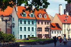 Χρώματα διασκέδασης στο uditsah παλαιά Ρήγα το καλοκαίρι Στοκ φωτογραφία με δικαίωμα ελεύθερης χρήσης