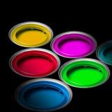 χρώματα κάδων Στοκ Φωτογραφίες