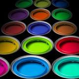 χρώματα κάδων Στοκ φωτογραφία με δικαίωμα ελεύθερης χρήσης