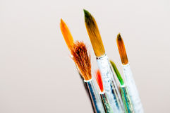 Χρώματα και βούρτσες Στοκ Εικόνα