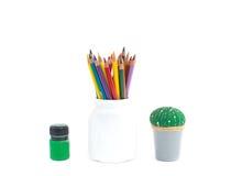 Χρώματα και μολύβια Στοκ Φωτογραφία