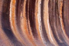 Χρώματα και δομές του βράχου κυμάτων, δυτική Αυστραλία στοκ φωτογραφία με δικαίωμα ελεύθερης χρήσης