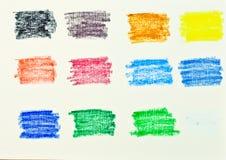 Χρώματα κρητιδογραφιών πετρελαίου Στοκ Φωτογραφίες
