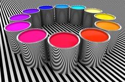 χρώματα κύκλων ελεύθερη απεικόνιση δικαιώματος