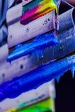 Χρώματα μίγματος με το χέρι Στοκ Εικόνες