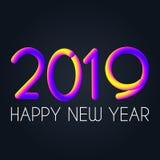 2019 χρώματα νέου, τρισδιάστατο διάνυσμα ύφους στοκ εικόνα με δικαίωμα ελεύθερης χρήσης