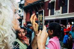 χρώματα Νεπάλ στοκ φωτογραφία με δικαίωμα ελεύθερης χρήσης