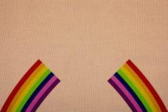 Χρώματα ουράνιων τόξων στον καμβά στοκ φωτογραφίες με δικαίωμα ελεύθερης χρήσης