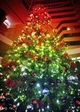 Χρώματα ουράνιων τόξων των Χριστουγέννων Στοκ φωτογραφία με δικαίωμα ελεύθερης χρήσης