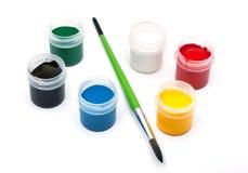 χρώματα πινέλων Στοκ φωτογραφία με δικαίωμα ελεύθερης χρήσης