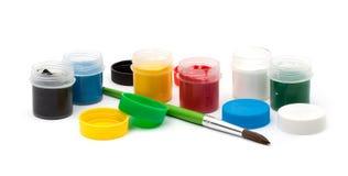 χρώματα πινέλων Στοκ εικόνες με δικαίωμα ελεύθερης χρήσης