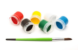 χρώματα πινέλων Στοκ Φωτογραφίες