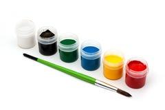 χρώματα πινέλων Στοκ Φωτογραφία