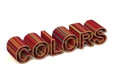 Χρώματα που γράφονται στα μολύβια Στοκ Εικόνα