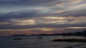 Χρώματα προσιτότητας του νυχτερινού ουρανού Στοκ Φωτογραφίες