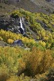 Χρώματα πτώσης με τις πτώσεις νερού Στοκ φωτογραφίες με δικαίωμα ελεύθερης χρήσης
