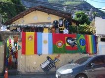 Χρώματα στο favela του Vidigal, στο Ρίο ντε Τζανέιρο στοκ φωτογραφία