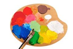 χρώματα τέχνης Στοκ φωτογραφίες με δικαίωμα ελεύθερης χρήσης