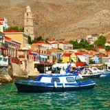 Χρώματα της ελληνικής σειράς νησιών Στοκ Φωτογραφίες