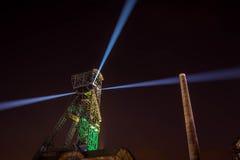Χρώματα της νύχτας φεστιβάλ της Οστράβα Στοκ φωτογραφία με δικαίωμα ελεύθερης χρήσης