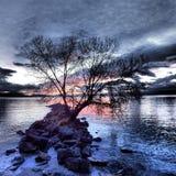 Χρώματα του ηλιοβασιλέματος Στοκ εικόνα με δικαίωμα ελεύθερης χρήσης