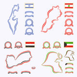 Χρώματα του Ισραήλ, του Λιβάνου, της Υεμένης και του Κουβέιτ Στοκ φωτογραφίες με δικαίωμα ελεύθερης χρήσης