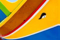 Χρώματα του της Μάλτα Dghajsa Στοκ εικόνα με δικαίωμα ελεύθερης χρήσης