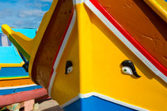 Χρώματα του της Μάλτα Dghajsa Στοκ Εικόνες