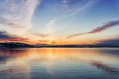 Χρώματα του χειμερινού ουρανού Στοκ εικόνα με δικαίωμα ελεύθερης χρήσης