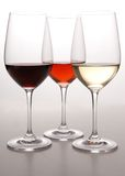 χρώματα τρία κρασί στοκ φωτογραφία με δικαίωμα ελεύθερης χρήσης