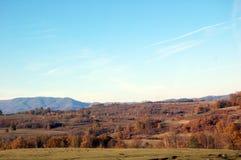 Χρώματα φθινοπώρου στα βουνά στην ημέρα στοκ φωτογραφίες με δικαίωμα ελεύθερης χρήσης