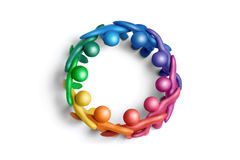 χρώματα 1 που ενώνονται Στοκ φωτογραφία με δικαίωμα ελεύθερης χρήσης