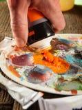 Χρώματα acrylics Aristic στοκ φωτογραφία με δικαίωμα ελεύθερης χρήσης
