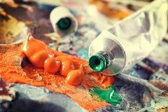 Χρώματα acrylics Aristic στοκ φωτογραφίες